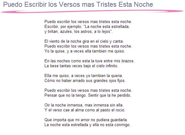 4 Puedo Escribir los Versos mas Tristes Esta Noche (The Saddest Lines)