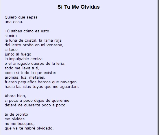 6 Si Tu Me Olvidas (If You Forget Me)