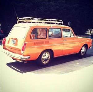 6. Back of a station wagon