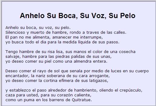 7 Anhelo Su Boca, Su Voz, Su Pelo (I Crave Your Mouth)