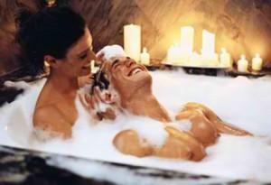 2. Take a bath together