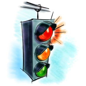 3 The traffic light said to the car