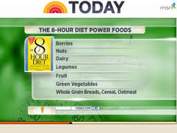 8 hour diet superfoods