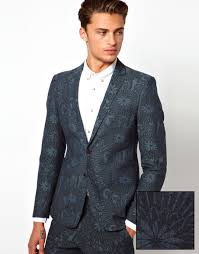 ASOS Slim Fit Blazer in Tropical Print