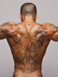 Big Fish Tribal Back Tattoo