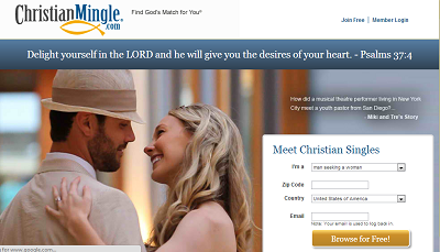 Engage merged with Christian Mingle free online dating site