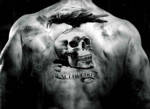 Expendables Fame Tribal Back Tattoo