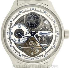Ingersoll Boonville Skeleton Dial Dual Time