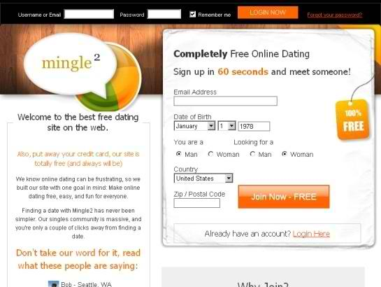 Mingle dating site login