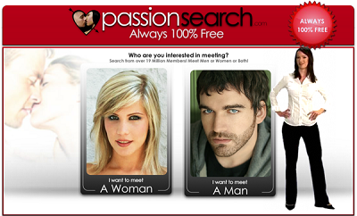 PassionSearch website for men looking for sex