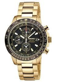 Seiko Solar Aviator Alarm Chronograph Pilot Watch