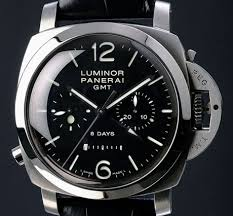 Steel Luminor 1950 8 Days Chrono Monopulsante GMT from Officine Panerai