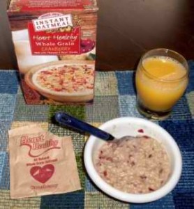 Trader's Joe Heart Healthy Whole Grain Cranberry Instant Oatmeal