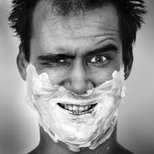 lathering + men + shaving