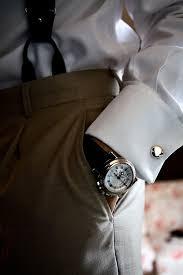 watch + wedding attire for men