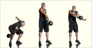 Kettlebell Swing with Flip to Squat