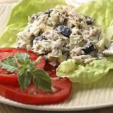 Tuna Salad with Ripe Olive and Artichoke