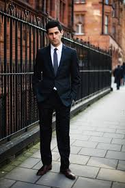 two-piece dark suit