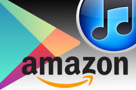 Google Play, iTunes Store and Amazon