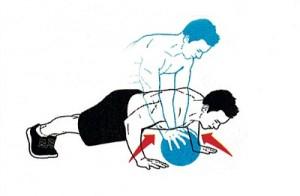Medicine Ball Push-up Pass