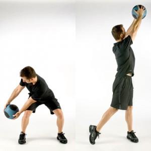 Medicine Ball Squat Chops
