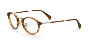 Ray-Ban Clear Lens Square Wayfarer Glasses Striped Havana