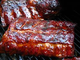 smoked ribs grilling